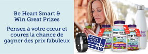 Webber Naturals – Be Heart Smart – Win a grand prize valued at $719 OR 1 of 10 minor prizes