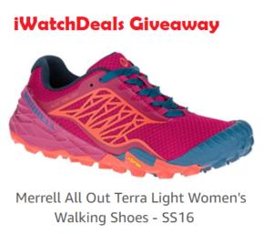 iWatchDeals – Win a free Merrell All Out Terra Light Women's Walking shoes