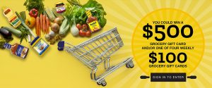 ACH Food Companies – Win a grand prize of $500 grocery gift card OR 1 of 4 minor prizes