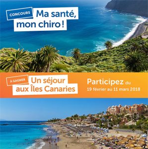 Association des chiropraticiens du Quebec – Win a week-long trip for 2 to the Canary islands