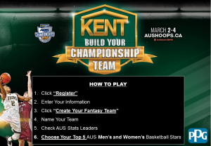 Atlantic University Sport – Kent Build Your Championship Team – Win a grand prize of a trip & tickets to see the Toronto Raptors vs. The Boston Celtics OR other prizes