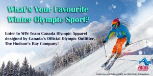 Atlas Van Lines – Winter Olympic Sport – Win a prize package from the Hudson's Bay Canadian Olympic Team Collection