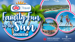 Bell Media & CAA Atlantic Services – Family Fun in The Sun – Win a trip for 4 to Curacao valued at $6,000