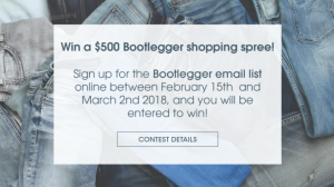 Bootlegger – Win a $500 Bootlegger Gift Card
