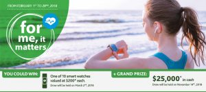 Brunet – Win a grand prize of $25,000 cash OR 1 of 10 smart watches valued at $200 each