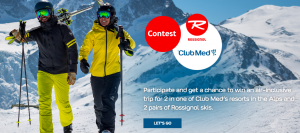 Club Med Sales Canada – #anotherbestday – Win an air-inclusive trip for 2 to Club Med Resort valued at $7,800