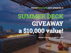 HomeRenoCare – Summer Deck – Win $10,000