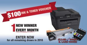 Island Inkjet & Laser Toners – Win 1 of 11 Gift vouchers valued at $100 CAD each