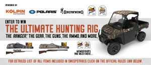 Kolpin Outdoors, Polaris, Browning Arms and Pheasants – Win a grand prize package valued at up to $24,884