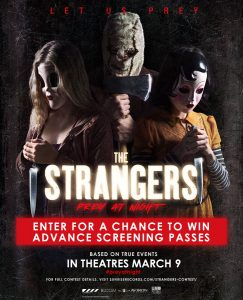 Les Disquaires Sunrise Records – Win 1 of 90 advance screening passes to The Strangers: Prey at Night