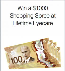 Lifetime Eyecare – Win a $1,000 Shopping Spree