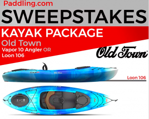 Paddling.com – Win 1 of 3 prize packages valued at up to $2,500 (choose either Kayak, Canoe or SUP)