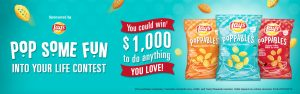 PepsiCo Canada – Tasty Rewards – Lay's Poppables Pop Some Fun into Your Life – Win a $1,000 cash prize