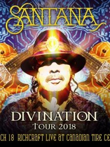 Santana Canadian Tire Centre – Win 2 tickets to see Santana at Canadian Tire Centre valued at $119 CDN