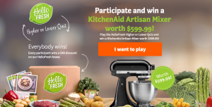 Social Blue – HelloFresh Canada – Win a Kitchen Artisan 5-Quart Stand Mixer in Onyx Black valued at over $599