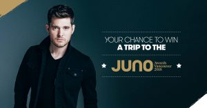 Stingray Music – Win a trip plus tickets for 2 to JUNO Awards Broadcast valued at $3,500