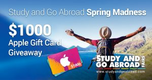 Study and Go Abroad – Spring Madness – Win $1,000 Apple Gift Card