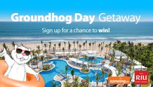 Sunwing Vacations – Groundhog Day Getaway – Win a trip for 2 to Mazatlan, Mexico on board Sunwing Airlines valued at $4,000