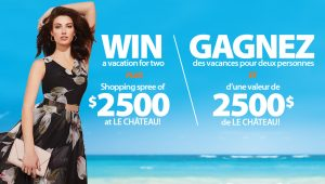 Sunwing Vacations & Le Chateau – Vacation in Style – Win a trip for 2 to Jamaica valued at $6,000