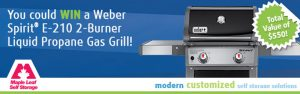 The Toronto Star Wonderlist – Win a Weber Spirit 2-burner Liquid Progane Gas Grill valued at $550