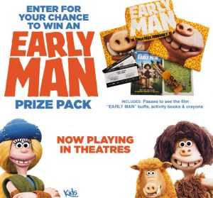 Tribute Publishing KIDS – Win 1 of 5 prize packs for Early Man valued at $50 each