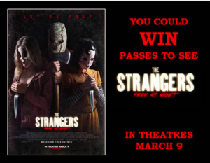 Tribute Publishing – Win 1 of 20 passes to see an advance screening of The Strangers Prey A Night