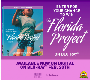 Tribute Publishing – Win 1 of 5 copies of The Florida Project on Blu-ray valued at over $29 each