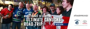Vancouver Canucks & British Columbia Toyota – Win the Ultimate Road Trip for 2 to Las Vegas valued at $3,500