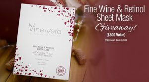 Vinevera – Win 1 of 2 prizes of the Fine Wine & Retinol Sheet Mask valued at $500