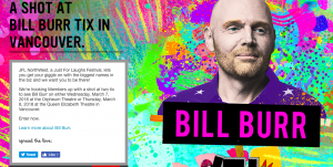 Virgin Mobile Canada – JFL Northwest – Bill Burr – Win 1 of 3 double tickets to Bill Burr performance