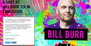 Virgin Mobile Canada – JFL Northwest – Bill Burr – Win 1 of 3 double tickets to Bill Burr performance