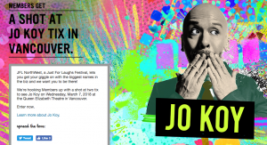 Virgin Mobile Canada – JFL Northwest – Jo Koy – Win 1 of 3 prizes of 2 tickets to the performance