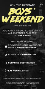 Bestseller Clothing – Jack & Jones – Win 1 of 3 grand prize packages valued at $8,000 CAD each