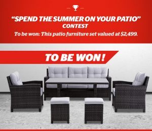 Brault & Martineau – Win an Ove Decor Patio furniture valued at $2,499