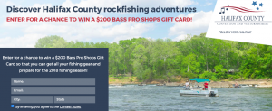 Halifax CVB – Win a $200 Bass Pro Shops gift card