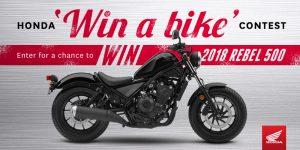 Honda Canada – Win a 2018 Rebel 500 motorcycle valued at $6,699 CAN