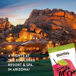 Martin's Apple Chips – Win a 4-night stay for you and a friend
