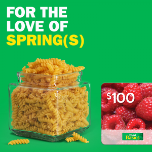 Metro Ontario – Count the Spring – Win a $100 CDN Food Basics gift card
