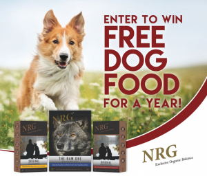 NRG – Win Free Dog Food for a Year valued at $1,920