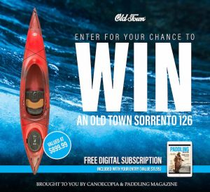 Rapid Magazine – Paddling Magazine – Win 1 of 5 Old Town Sorrento 126  prize packs