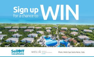 SellOffVacations – Win an all-inclusive vacation for 2 in Cuba valued at $3,000 CAD
