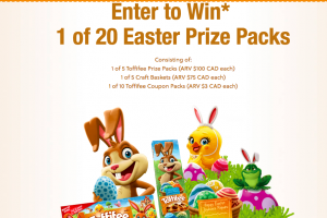 Storck Canada – Toffifee Easter Colouring – Win 1 of 20 prizes of Craft baskets, Toffifee prize packs and coupons