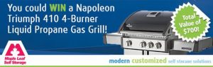 The Toronto Star Wonderlist – Maple Leaf Self Storage Calgary – Win a Napoleon Triumph Gas Grill valued at $700