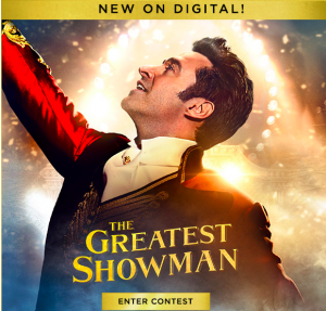 Tribute Publishing – Win 1 of 10 copies of The Greatest Showman on Blu-ray valued at $29.99 CDN each