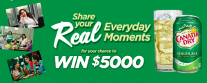 Canada Dry Mott – Real Moments – Win a $5,000 CDN check