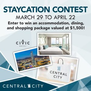 Central City – Staycation – Win a $1,000 Civic Hotel Gift Card & a $500 Central City Gift Card