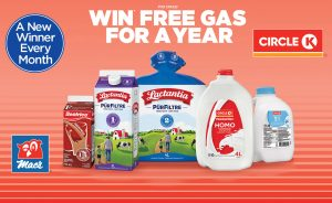 Circle K – Win 1 of 12 monthly prizes of Free Gas for a Year valued at $2,600 each