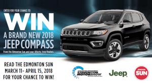 Edmonton Sun – Motorshow – Win a 2018 Jeep Compass