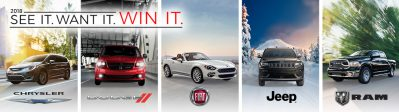 FCA Canada – Win a new 2018/2019 Chrysler, Jeep, Dodge, Ram or FIAT vehicle valued at up to $40,000