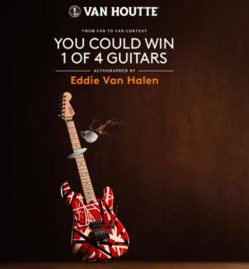 Keurig Quebec – Win 1 of 4 Eddie Van Halen guitars valued at $3,000 each plus more